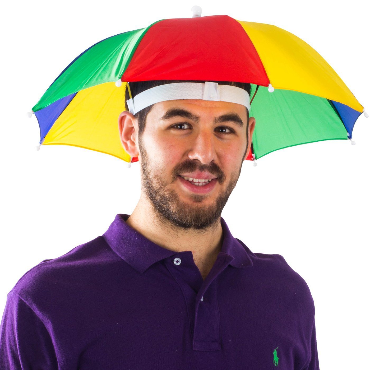 bb063ec166fd8 Get Quotations · Funny Party Hats Umbrella Hat - Fishing Umbrella Hat For  Kids and Adults - Elastic