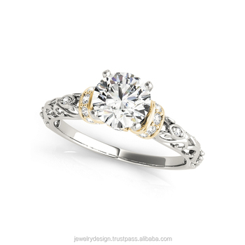 18k Gold Classic 0.75 Carat SI Real Natual Diamond Women Engagement Ring Fine Wedding Jewelry