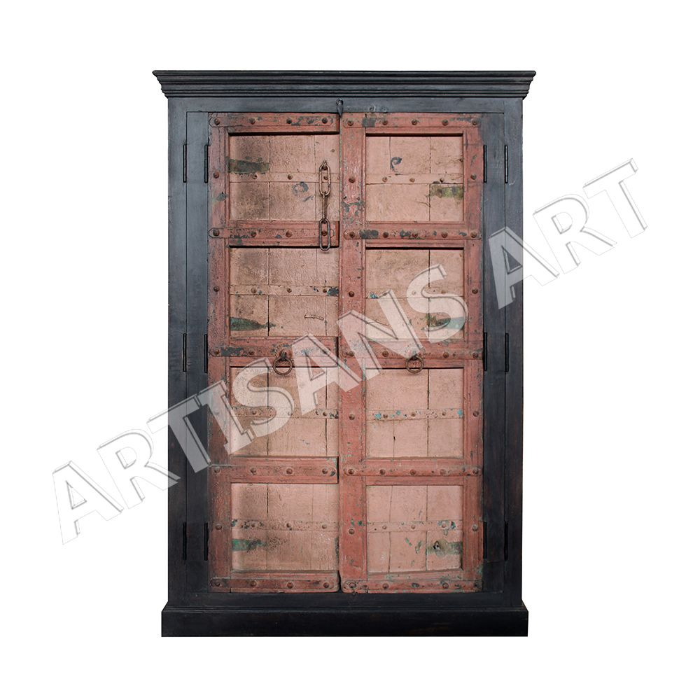 Vintage Custom Indian old Door Antique Wooden Almirah, Indian old Antique Furniture Suppliers and Manufacturers