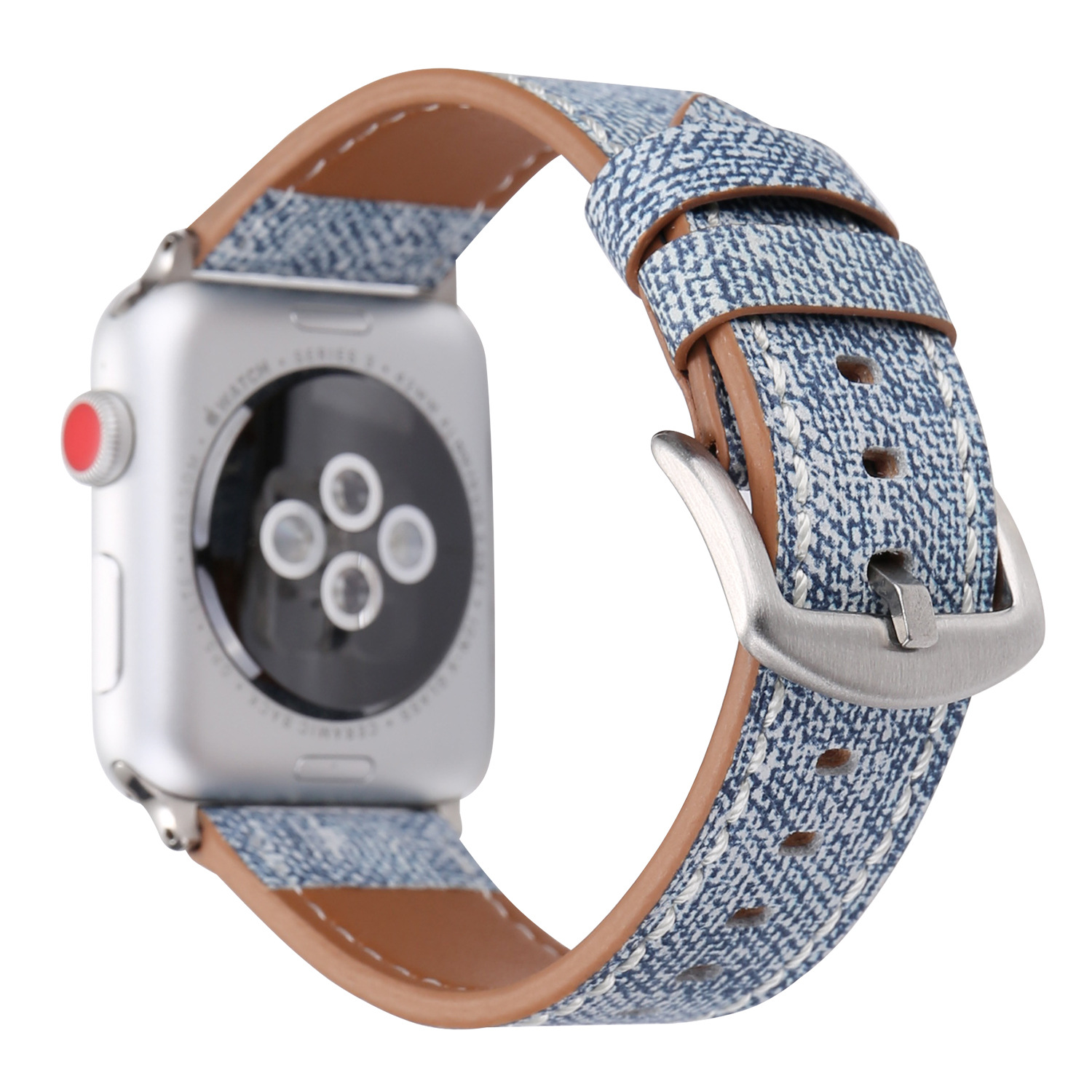 2019 nouveautés denim sangle pour l'apple watch series 4 cuir véritable sangles
