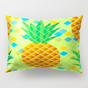 Mega Christmas Sales long fruit shaped pillow gold pineapple pillow 100 cotton organic baby pillow cases