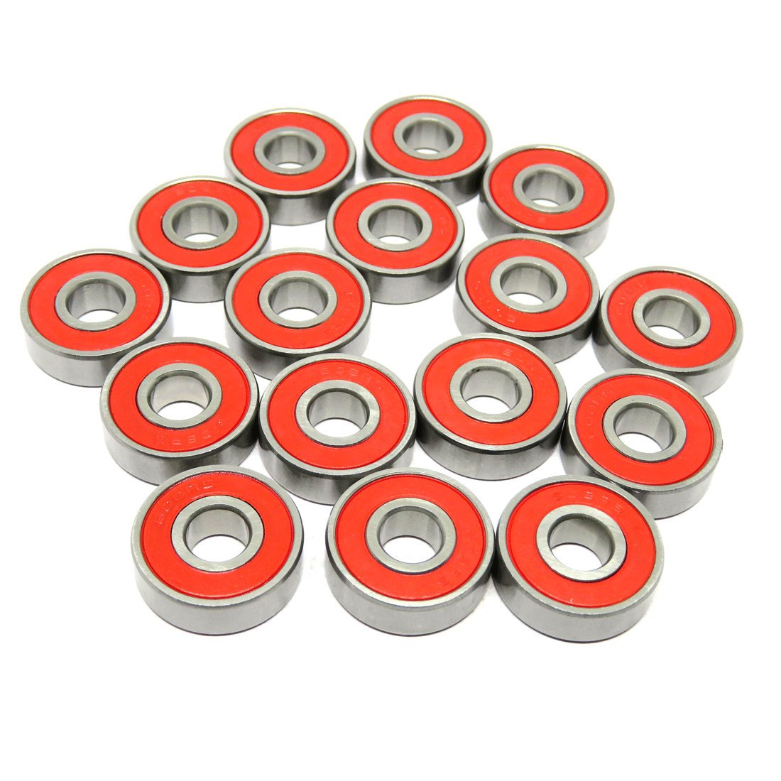 Zoty 608RS Skate Bearing 608-2RS ABEC-7 Longboard Bearings Inline Skate Ball Bearing 8x22x7mm Pack of 8 pcs