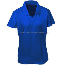Wholesale fashion ladies short sleeve polo t- shirts for women