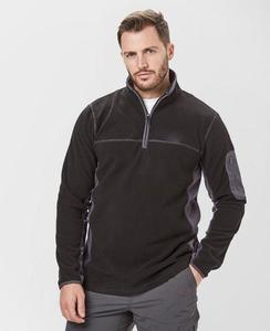 Wholesale warm plain long sleeve zip up polar fleece mens jacket