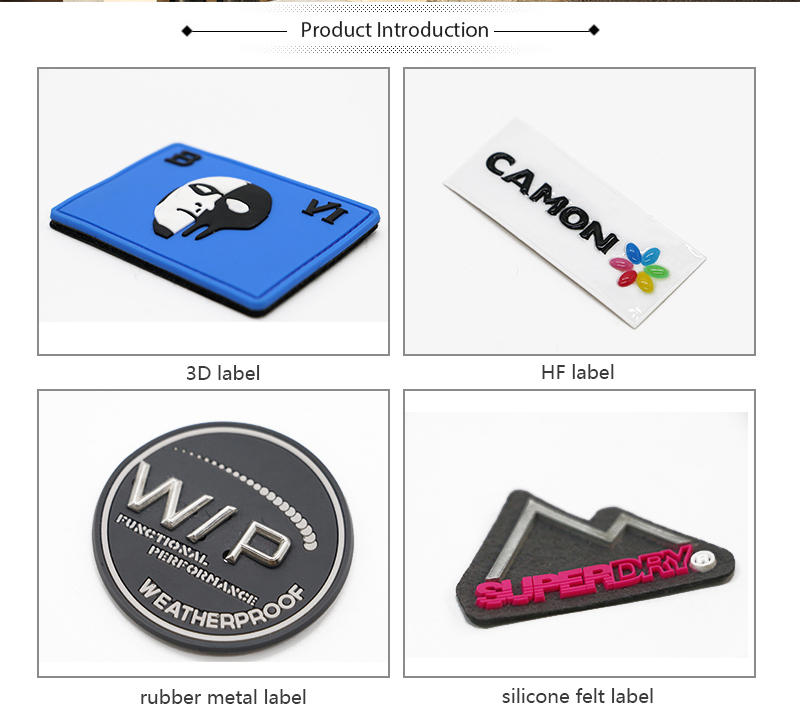 Custom your own logo debossed embossed 3d rubber plastic pvc clothing garment label patch badge