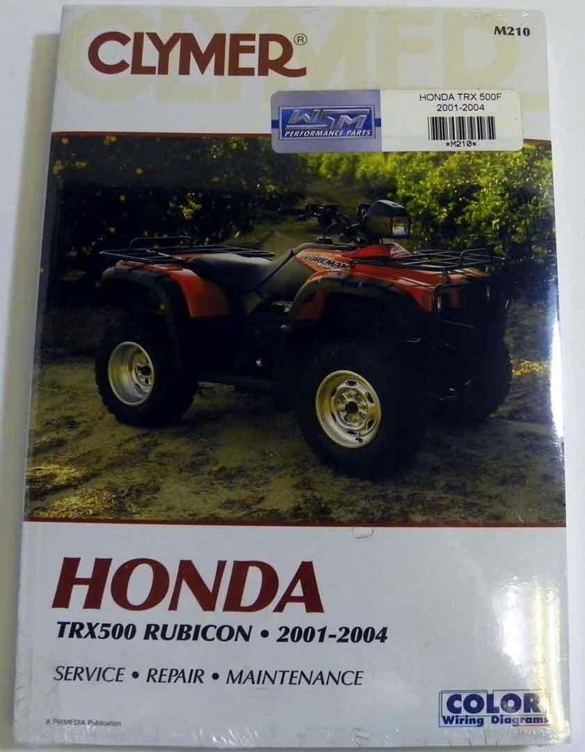 Buy Atv Moto X Honda Clymer Manual Models Trx 500 Rubicon 2001 2004 300 Wiring Diagram 1991 Wsm