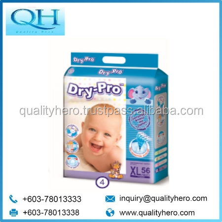 Quality Hero Dry-Pro Baby Nappy Diaper XL56 Baby pampers diaper wholesale