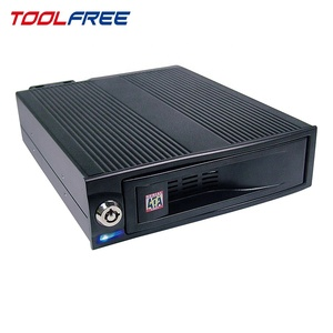 TOOLFREE 3.5 inch Mobile Rack SATA/SAS 6G Aluminum case with fan HDD enclosure case