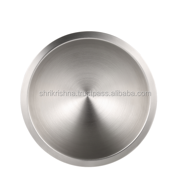 Stainless Steel Slant Cut Serving Bowl for Serving Salad