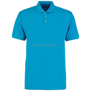 Turquoise 100% cotton custom workwear polo shirt for staff, Embroidery logo uniform polo shirt