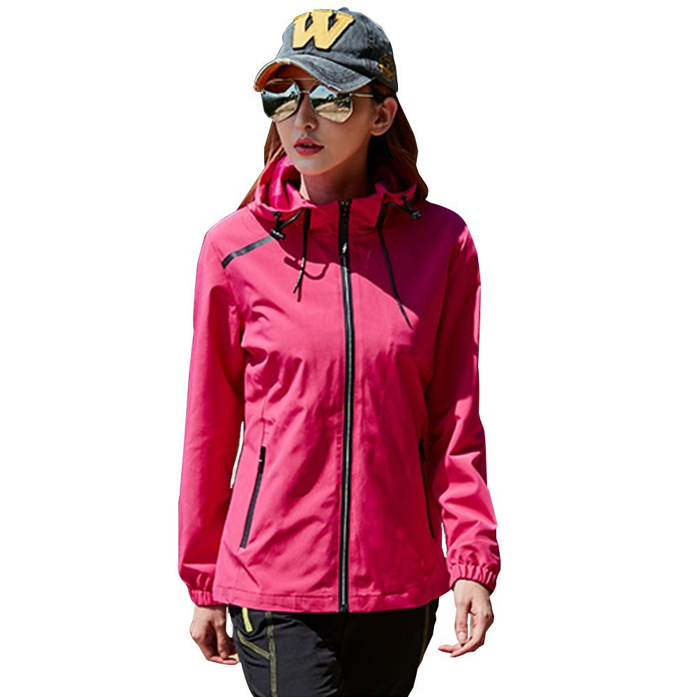f90b1cc0e6c Get Quotations · Womens Hiking Running Full Zip Jacket Plus Size Spring  Winter Water Resist Rain Jacket Coat Brethable