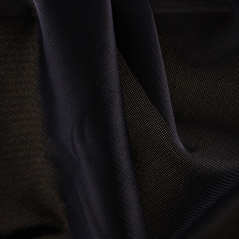 Black Color Breathable Elastic fabric  Polyester Lycra Spandex Fabric
