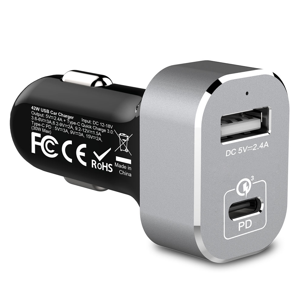 Quick Car Charger QC 3.0 and Type-C PD Port