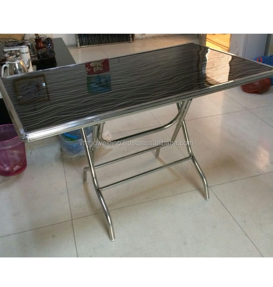 - Foldable Square Glass Table - Buy Stainless Steel Folding Table