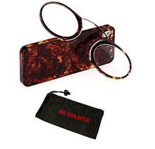 WEARKAPER, портативный зажим для носа, кошелек, стекло для чтения, чехол, леопард, мини, пресбиопическое стекло, es, кредитная карта, размер, аварий...(Китай)