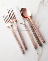 spoon fork set new design for restaurant copper antique finish
