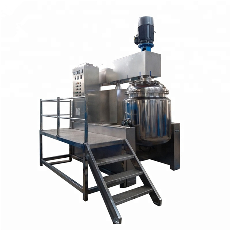 Menor homogeneizador de elevación hidráulica de vacío emulsionante para cosméticos y comida y plaguicidas químicos maquinaria equipo de mezcla