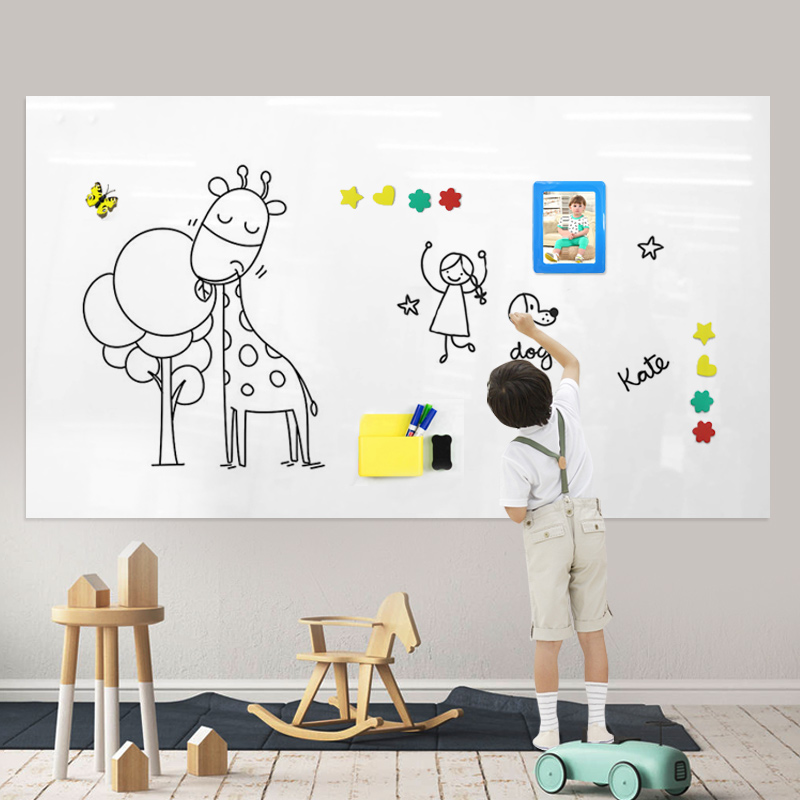 Magnetic Writing Whiteboard Sheet Sticker Office Self Adhesive Magnet Holding Whiteboard Wall Covering
