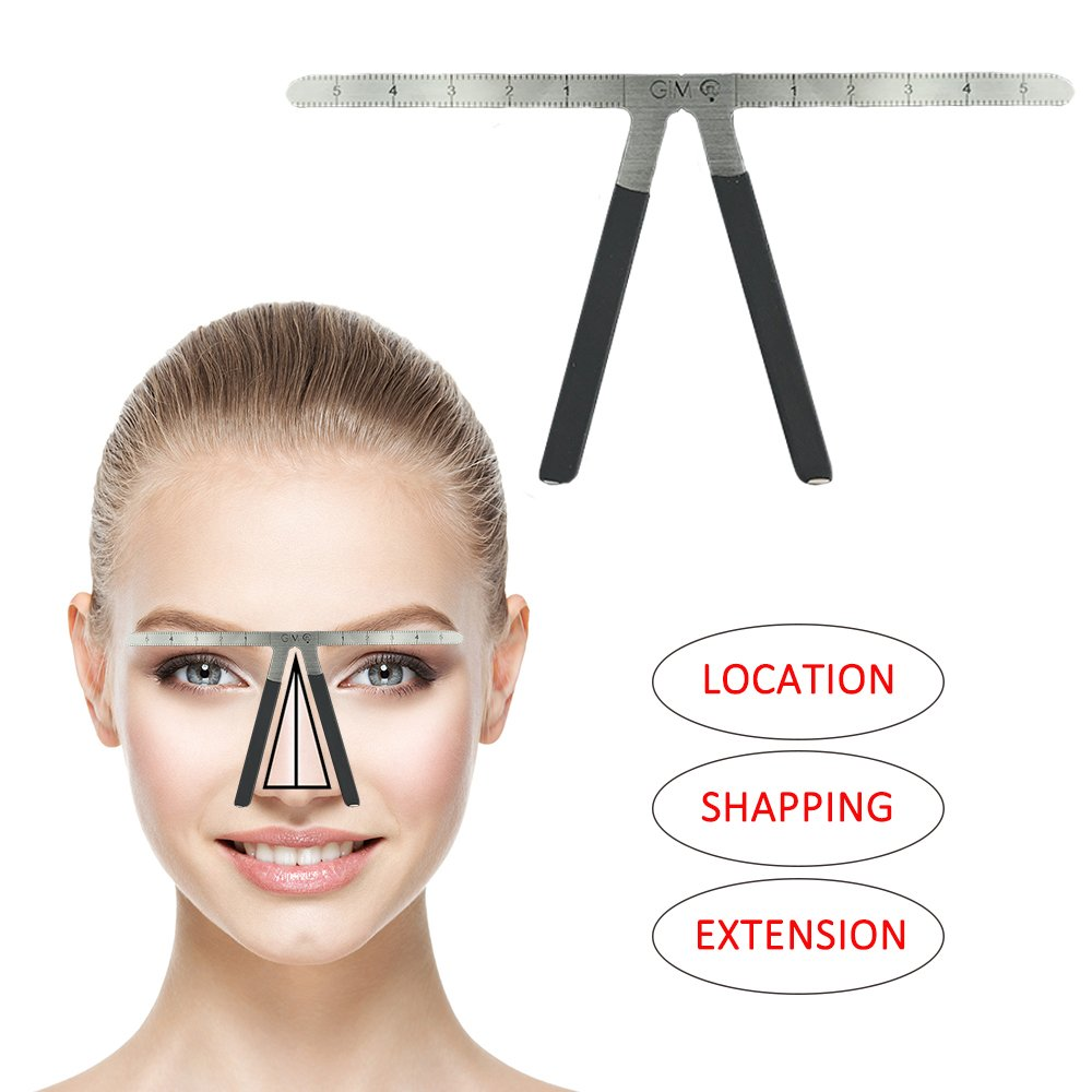 Eyebrow Ruler Three-Point Positioning Tattoo Balance Ruler Grooming Stencil Shaper Permanent Makeup Template Bendable Reusable Measuring Symmetrical tool Professional Ruler Caliper Accessory
