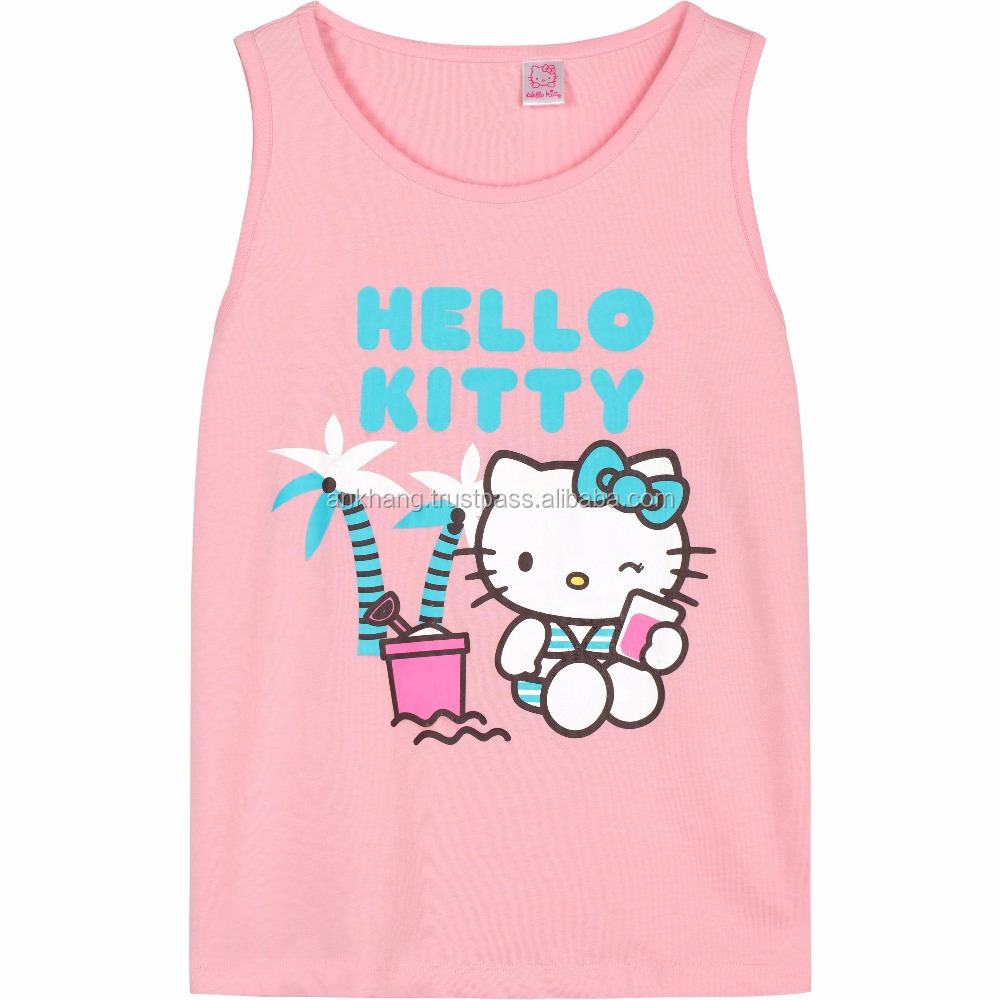 Girls Fashion Custom Printed Sleeveless T Shirt Buy Girl T Shirts