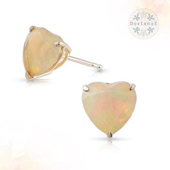 1 90 Ct Ethiopian Opal Stud Earrings Fashion Jewelry 10k Yellow Gold