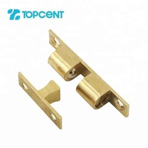 TOPCENT furniture cabinet solid cupboard door brass magnetic double roller ball catch