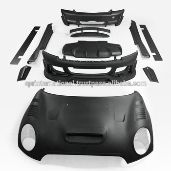 For Mini cooper R56 Ver.2.112.12 AG-Style Full Body Kit Front bumper with fog light covers, LED & Round Fog Light FRP