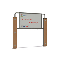 outdoor WPC wood plastic billboard for gym