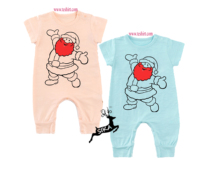 tirupur wholesale Newest and Comfortable short sleeve baby's romper baby's wear baby's suit cotton new girls long romper set