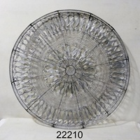 Round Antique Wire Metal Wall Art With Plain Polish