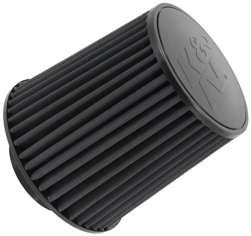 K&N RU-5171HBK Universal Clamp-On Air Filter: Round Tapered; 4 in (102 mm) Flange ID; 8 in (203 mm) Height; 8 in (203 mm) Base; 6.625 in (168 mm) Top