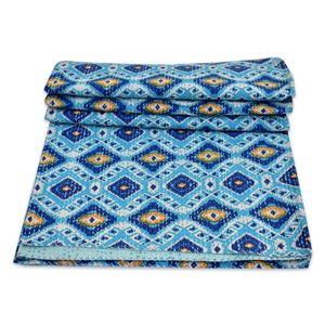 Indian quilt bedspread handmade Geometric quilts bedspreads