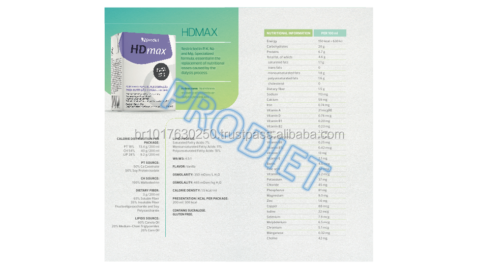 HDmax has been specifically designed for patients recovering from Dialysis procedures.