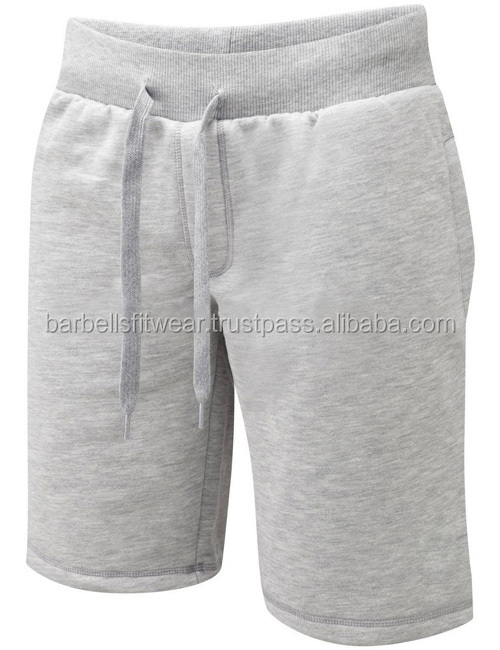 Blank 100% Baumwolle Fleece Gym Shorts
