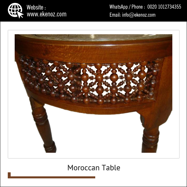 Moroccan Silver Plated Brass Tray Tea Coffee Table   Buy Moroccan ...