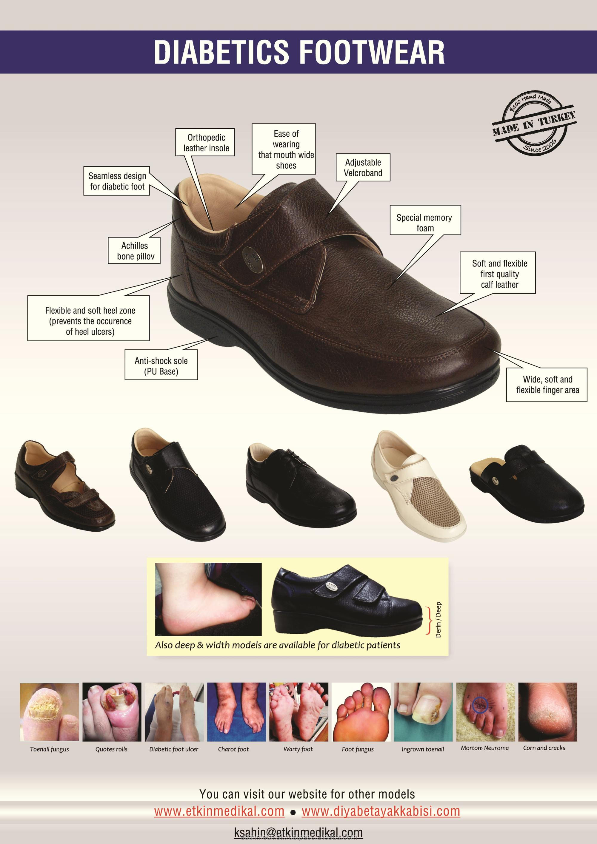 Diabetic Men for PU With Foot Seamless Diabetic Model Design Medical Shoes Sole WgExqw8wHf