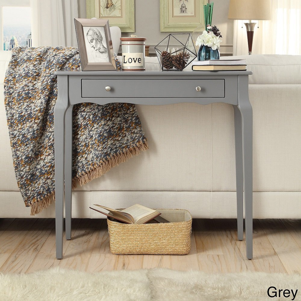 iNSPIRE Q Modern Daniella 1-drawer Wood Accent Console Accent Console Entryway Sofa Table Desk Bold Grey