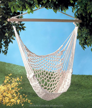 Macrame Garden Hammock Hanging Chair Bed With Fringe Seat