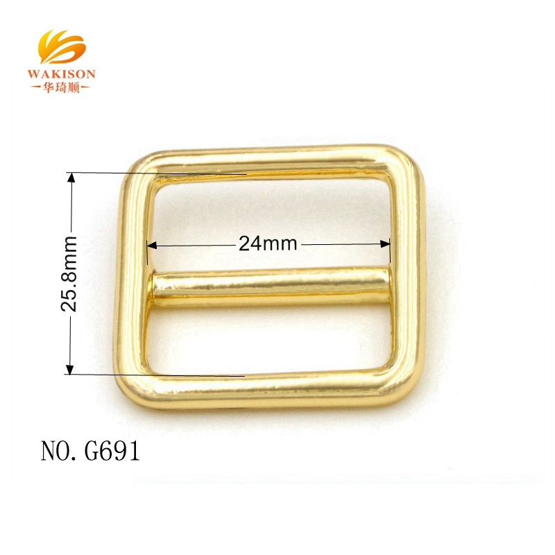 customized handbag luggage metal square  buckle tri-glide buckle