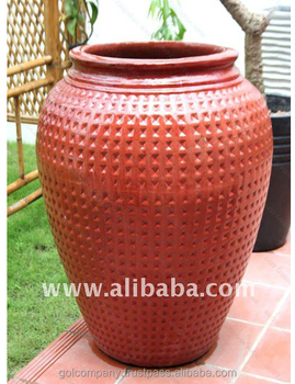 [wholesale] Tall Dots Jar Planters - Outdoor Glazed Pottery - Big Ceramic  Flower Pots: - Buy Ceramic Flower Pots Wholesale Large Tree Pots Cheap