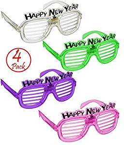 3b4f438553ad Get Quotations · Shutter Shades LED Light Flash Slotted Shades Glasses