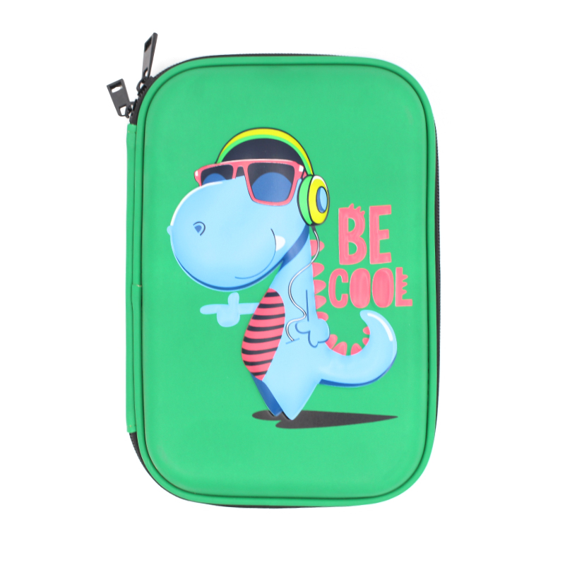 2020 new style High Quality cute Student fashion pencil box PU waterproof smiggle Dinosaur eva pencil <strong>case</strong>