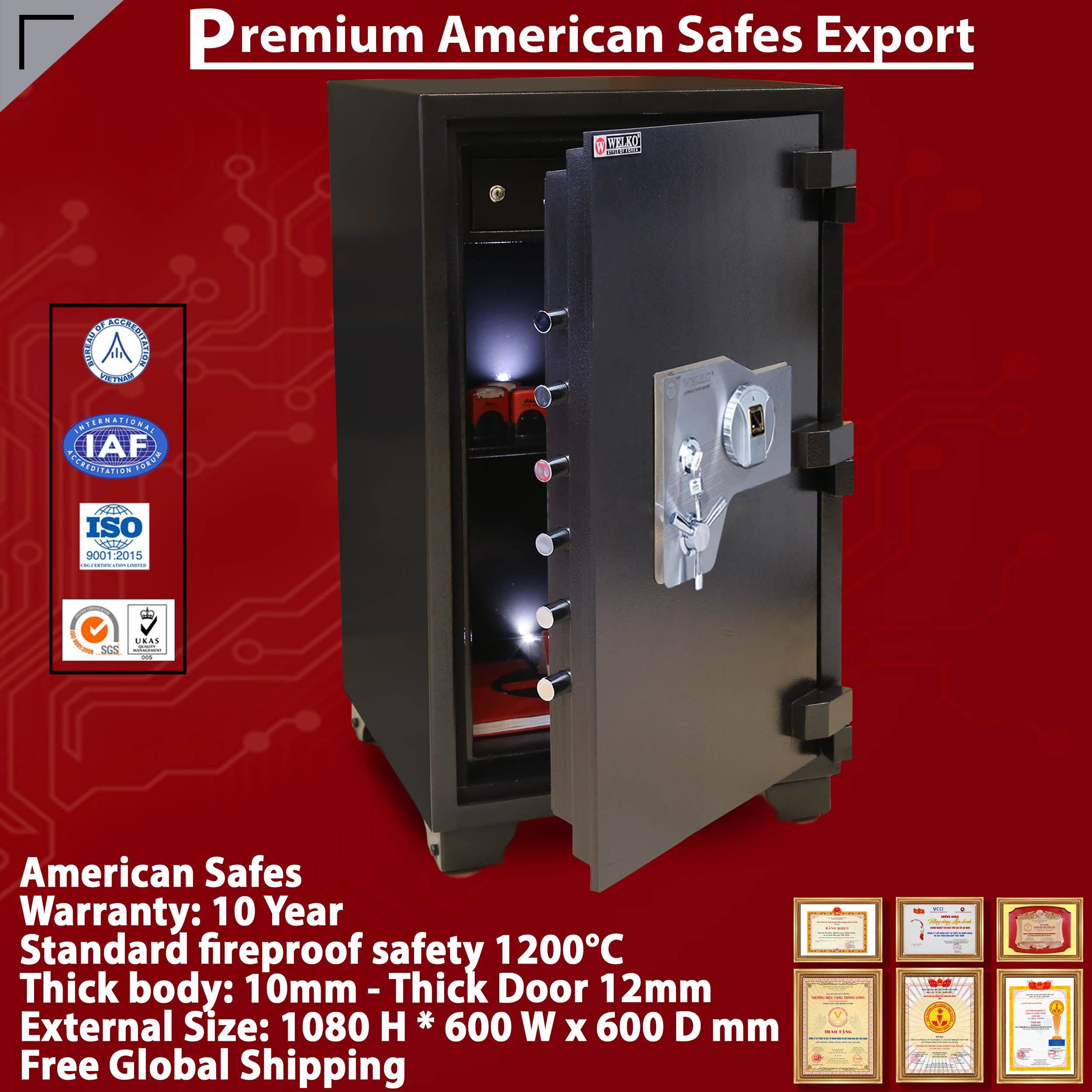 Home Security Money/ Fingerprint Deposit Safe Key Operated Locking - High Quality - High Technology - From WELKO Safes