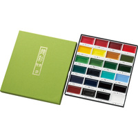 Japanese Solid Color Painting Set Watercolor Pigment Portable Watercolor