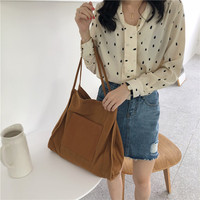 Korean style canvas large capacity leisure lady single-shoulder bags