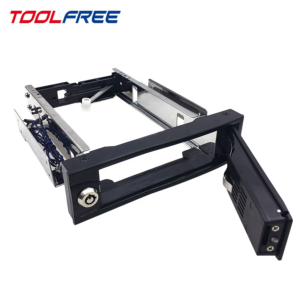 TOOLFREE di 3.5 pollici Mobile Rack HDD Enclosure Trayless SATA/SAS 6G Singolo LED/525 drive enclosure/ 525 box/525 hdd caso