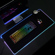 Custom Voorraad Grote Xxl Gaming Gamer Doek Extended Leeg Sublimatie Thermische Verwarming Rgb Led Gaming Mousepad <span class=keywords><strong>Muismat</strong></span>