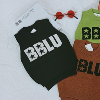 Winter for boys o-neck sleeveless sweater with the word BBLU sweater children