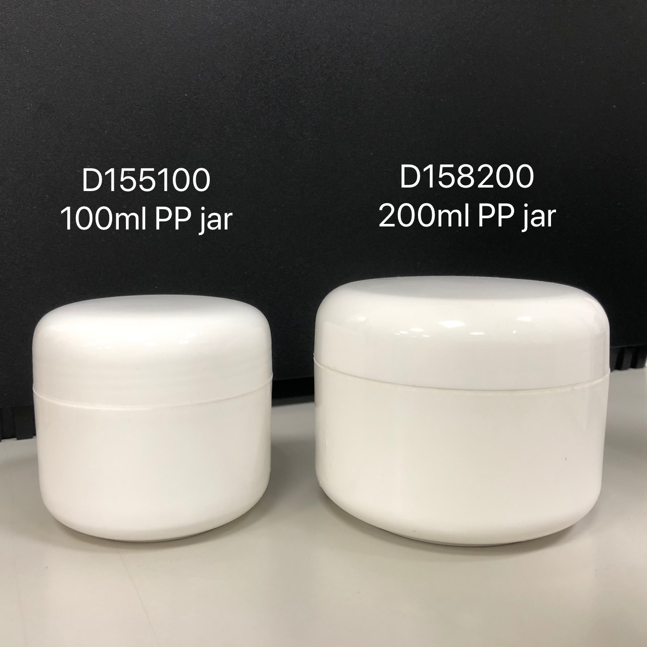 Whole size round double wall cosmetic cream jar