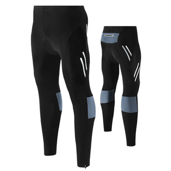 Men's reflective bicycle pants gel padded cycling compression tights leggings outdoor riding bike pants